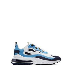 Nike Men's Air Max 270 React Low-Top Sneakers  - Male - White/Blue - Size: 7.5