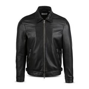 7 For All Mankind Nappa Leather Jacket  - Male - Black - Size: Extra Large