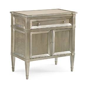 Caracole Buona Notte Nightstand  - Taupe Silver Leaf