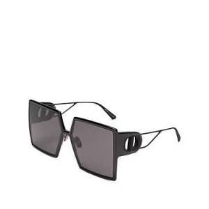 Christian Dior Women's Square Sunglasses, 58mm  - Female - Shiny Black/Smoke