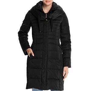 T Tahari Mia Fitted Puffer Coat  - Female - Black - Size: Small