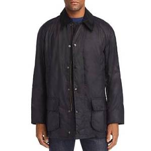 Barbour Bristol Waxed Jacket  - Male - Navy - Size: Large