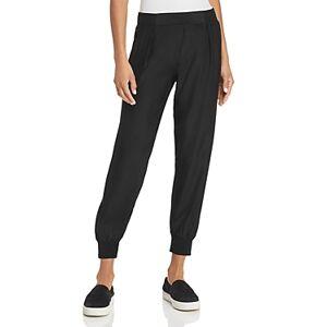 Atm Anthony Thomas Melillo Silk Jogger Pants  - Female - Black - Size: Large