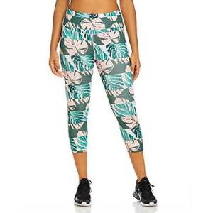 Nike Plus Size Cropped Printed Leggings  - Female - Pink - Size: 3X