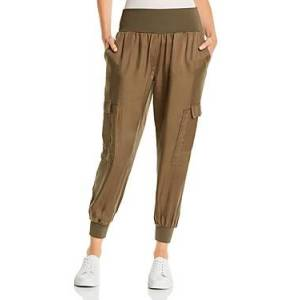 Cinq a Sept Giles High-Waist Jogger Pants  - Female - Olive - Size: Small