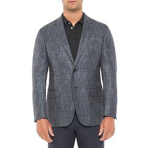 Armani Emporio Armani Regular Fit Solid Jacket  - Male - Blue - Size: 50 IT / 40 US