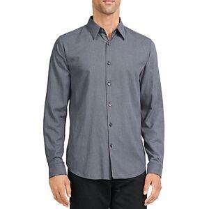 Theory Irving Micro Print Regular Fit Sport Shirt  - Baltic Multi - Size: Large
