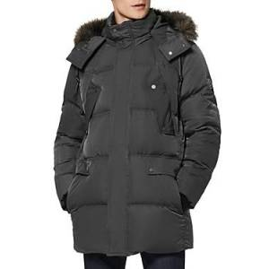 Marc New York Andrew Marc Orion Puffer Coat  - Male - Charcoal - Size: Small