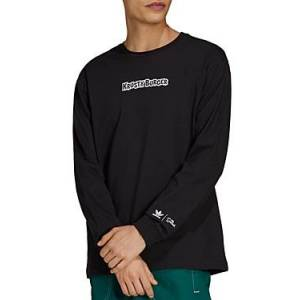 adidas Originals x The Simpsons Krusty Burger Cotton Graphic Long Sleeve Tee  - Male - Black - Size: Large