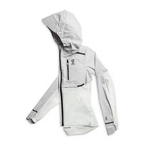 On Lightweight All Weather Running Jacket  - Female - Grey/White - Size: Large