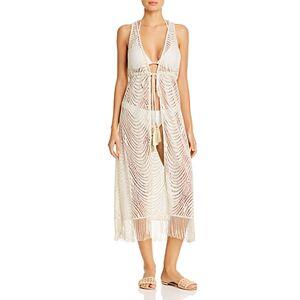 Ramy Brook Rhona Dress Swim Cover-Up  - Female - Gold - Size: Large