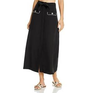 Jonathan Simkhai Belted Midi Skirt Swim Cover-Up  - Female - Black - Size: Medium