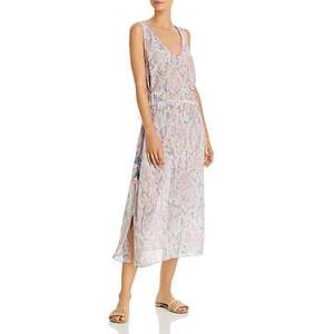 Ramy Brook Aleena Viper Print Dress Swim Cover-Up  - Female - Pink Combo - Size: Small