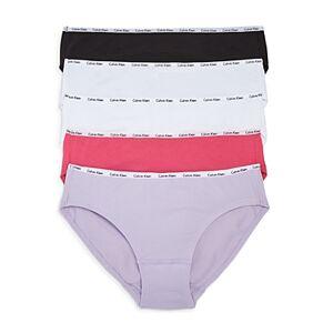 Calvin Klein Signature Bikinis, Set of 5  - Female - Black/White/Lilac/Pink - Size: Small