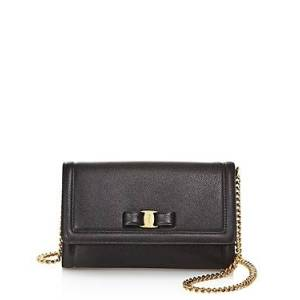 Salvatore Ferragamo Vara Bow Leather Mini Bag  - Female - Nero Black/Gold