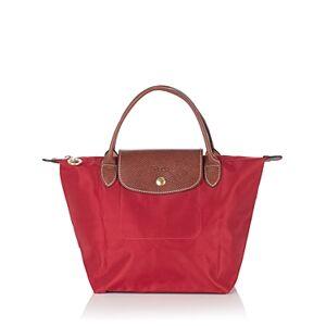 Longchamp Le Pliage Small Top Handle Nylon Handbag  - Female - Deep Red/Gold
