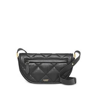 Burberry Small Olympia Leather Shoulder Bag  - Female - Black