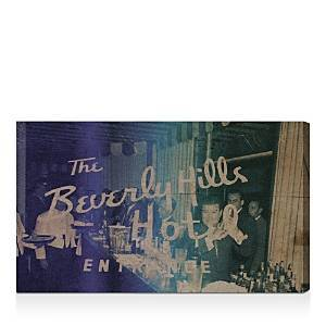 Oliver Gal Cocktails at Beverly Wall Art, 16 x 10  - Dark Blue