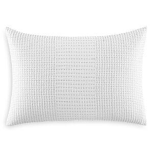 Vera Wang Blocked Running Stitch Decorative Pillow, 15 x 22 - 100% Exclusive  - White