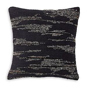 Donna Karan Black Onyx Novelty Yarn Decorative Pillow, 12 x 12  - Black