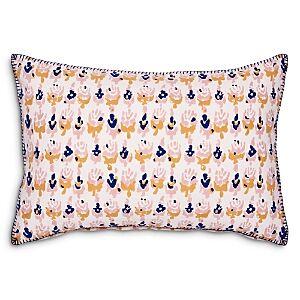 John Robshaw Kiki Oyster Decorative Pillow, 12 x 18  - Pink/Navy