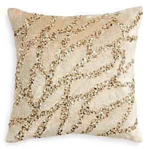 Donna Karan Gold Dust Collection Decorative Pillow, 12 x 12  - Gold Dust