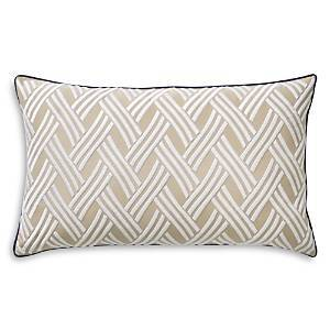 Yves Delorme Naussica Decorative Pillow, 12 x 20  - Beige/Marine