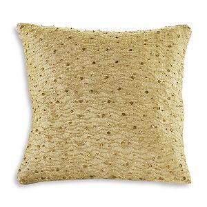 Donna Karan Gilded Decorative Pillow, 12 x 12  - Gold