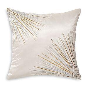 Donna Karan Seduction Collection Starburst Decorative Pillow, 12 x 12  - Ivory