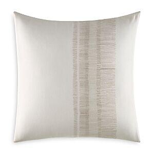 Vera Wang Pucker Grid Shaded Stitching Square Pillow, 18 x 18  - White