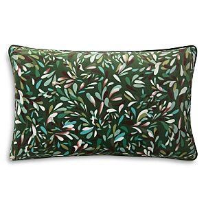 Yves Delorme Blossom Decorative Pillow, 12 x 20  - Dark Green