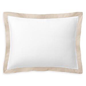 Ralph Lauren Organic Sateen Border Decorative Pillow, 16W x 12L  - Coastal Sand