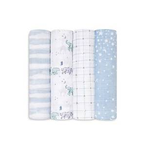 Aden and Anais 4 Pk. Printed Classic Swaddles  - Unisex - Rising Sta