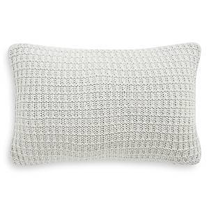Waterford Florence Waffle Knit Decorative Pillow, 12 x 18  - Chambray Blue