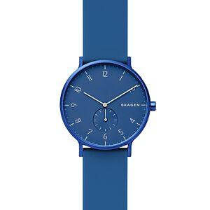 Skagen Aaren Kulr Silicone Strap Watch, 41mm  - Dark Blue