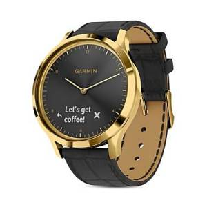Garmin Vivomove Hr Touchscreen Hybrid Smartwatch, 43mm  - Unisex - Black/Black