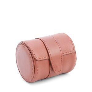 Royce New York Leather Single Watch Travel Roll Case  - Female - Tan