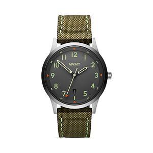 Mvmt Field Canvas Strap Watch, 41mm  - Male - Gray/Green