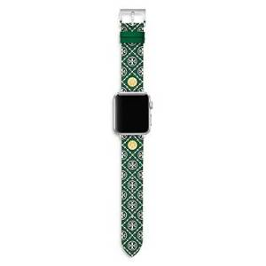 Tory Burch Logo Strap for Apple Watch, 38-40mm  - Female - Green