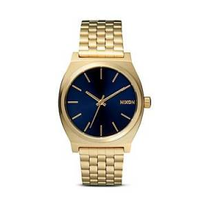Nixon The Time Teller Watch, 37mm  - Female - Gold/Cobalt
