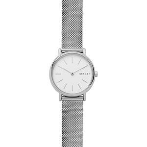 Skagen Signatur Stainless Steel Slim Watch, 30mm  - Female - White/Silver