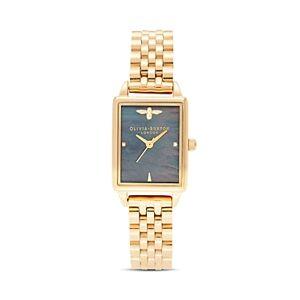 Olivia Burton Bee Hive Black Mother-of-Pearl Link Bracelet Watch, 20.5mm x 25.5mm - 100% Exclusive  - Female - Black/Gold