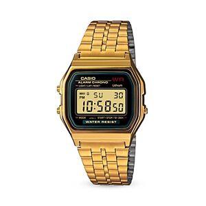 G-shock Casio Vintage Digital A159 Watch, 36.8mm 33.2mm  - Male - Black/Gold