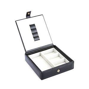 Royce New York Leather Watch & Cufflink Travel Case  - Male - Black