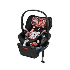 Cybex Cloud Q Infant Car Seat with SensorSafe in Spring Blossom  - Unisex - Black