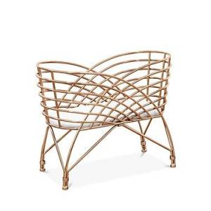 Nursery Works Aura Metal Bassinet  - Unisex - Rose Gold