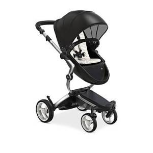 Mima Xari Stroller with Aluminum Chassis  - Unisex - Silver/Black