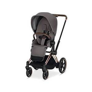 Cybex ePriam Electronic Assist Stroller with Rose Gold Frame  - Unisex - Gray