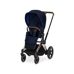 Cybex ePriam Electronic Assist Stroller with Rose Gold Frame  - Unisex - Indigo Blue