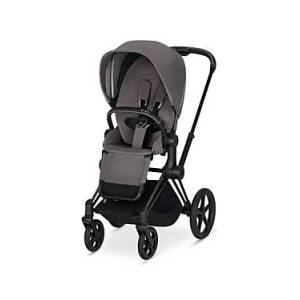 Cybex ePriam Electronic Assist Stroller with Matte Black Frame  - Unisex - Red